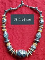 Collier 43 cm à 48 cm de longueur