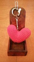 Porte clé coeur. Fait main 6 cm X 4 cm