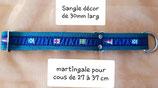 Collier pour cou de 27 à 37 cm. Martingale.