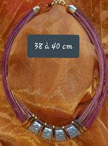 Collier 38 cm à 40 cm de longueur