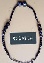 Collier de 50 à 55 cm de longueur