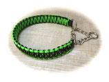Paracord/Biothane-Halsband mit Zugstoppkette Edelstahl Decay/N.Green (Rabatt-Shop)