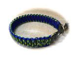 Paracord/Biothane-Halsband mit Biothane-Zugstopp Acquatica/E.Blue (Rabatt-Shop)