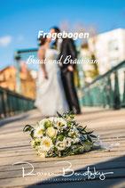 Hochzeits Fragebogen - individualisierbare Excel Datei
