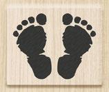 """Holzstempel """"Footsteps"""""""