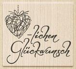 """Holzstempel """"Herzlichen Glückwunsch 3"""""""