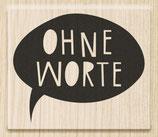 """Holzstempel """"Ohne Worte"""""""