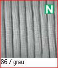 Paracord 4mm, grau 86