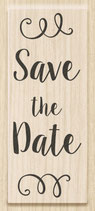 "Holzstempel ""Save the Date"""