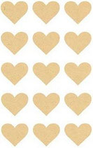 Kraftpapier Sticker, Herzen