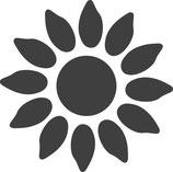 """Motivstanzer """" Sonnenblume"""" 2.5cm"""