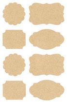 Kraftpapier Sticker, Etiketten