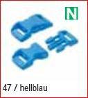 Klickschnalle 11/16 hellblau
