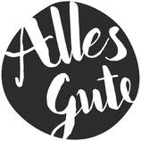 "Holzstempel, rund ""Alles Gute"""