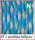 Paracord Farbmix 4mm, azurblau hellgrau 47