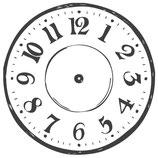 """Holzstempel, rund """"Clock"""""""