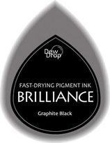 Pigmentstempelkissen Tropfen Brilliance, klein, Graphit schwarz