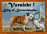 Englische Bulldogge mit Welpe