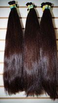 Menschliches Haar Braun 50cm Glatt
