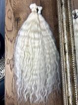 Europeiches Menschliches Haar Platinium Blond 50/55cm Lockige  c.a 100gr