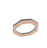 Ringkombination, 18 karat Rotgold, 925 Sterlingsilber geschwärzt