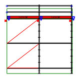 PACK 10: Layher Allround - L: 5,14m - H: 7,2m - 73cm - 41m² - NOUVEAU