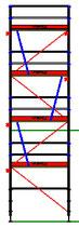 PACK Blitz - L: 2,57m (3*2,57m) ; H: 8,00m (4*2,00m)