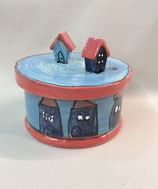 Keksdose Dose für Gebäck  Keramik im Design angelo blu