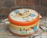 Brottopf Brotdose rund mit zwei Griffen  Keramik Handarbeit im Design payaso