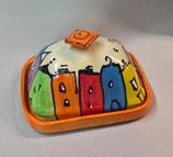 "Butterdose ""rojal""  für 250g Butter Keramik im Design colorido"