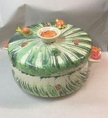 großer runder Brottopf Brotdose aus Keramik in Wiese