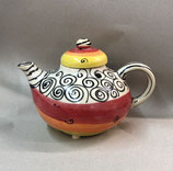 "Teekanne Kanne ""standard"" im  Design curly Keramik ca. 1,5 Liter"