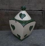 """Gebäckdose Dose """"VIER"""" Keksdose Keramik im Design emilly"""