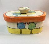 """kleiner ovaler Brottopf Brotdose """"pane"""" Brotkasten aus Keramik für Singles oder kleine Haushalte im Design payaso"""