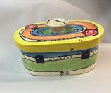 """kleiner ovaler Brottopf Brotdose """"pane"""" Brotkasten aus Keramik für Singles oder kleine Haushalte im Design crazy"""