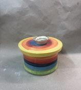 Gebäckdose  Keksdose Dose für Süßes Keramik im Design regenbogen