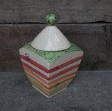 "Gebäckdose Dose ""VIER"" Keksdose Keramik im Design DUO"