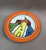 "Dessertteller Teller ""rando"" Kuchenteller Keramik im Design colorido"