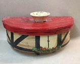 halb runder Brottopf Brotdose aus Keramik Handarbeit für Singles oder kleine Haushalte in Fachwerk