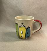 große Tasse XL Tasse Jumbotasse  ca. 600ml Keramik in colorido