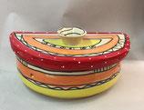 halb runder Brottopf Brotdose aus Keramik Handarbeit für Singles oder kleine Haushalte im Design ozova