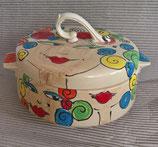 Brottopf Brotdose rund mit zwei Griffen im Design Crissy mit Spiralen