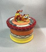 Gebäckdose Dose für Kekse  Keramik mit Katze im Design ozova