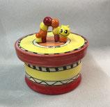 Keksdose Dose für Gebäck  Keramik mit Wurm in ozova
