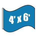 Banderas Estatales de EEUU (Nilón 4'x6')