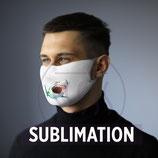 Masque de protection en tissu avec espace filtrant aux ions d'argent (personnalisé)