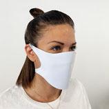 Masque de protection en tissu blanc