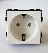 Modulair Stopcontact   met kinder beveiliging voor installatie in frame