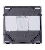 Modulaire Touch AAN/UIT schakelaar 2 stroompunten WISSEL