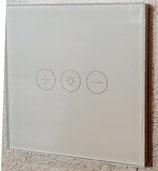 Glasplaat voor WIFI dimmer en ventilator of afzuiging schakelaar